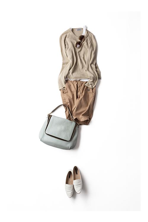 冬~春、夏~秋、この季節の間によく着ている ニットのコーディネート