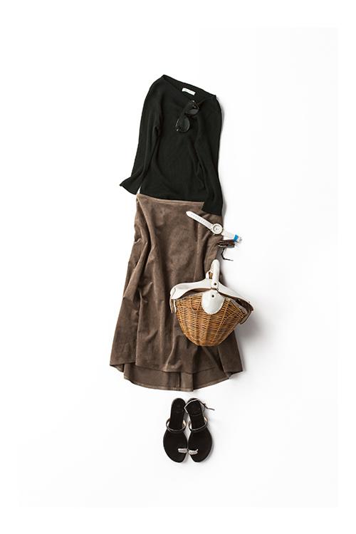 夏の終わりに着たいミラノ配色とフレンチシルエット
