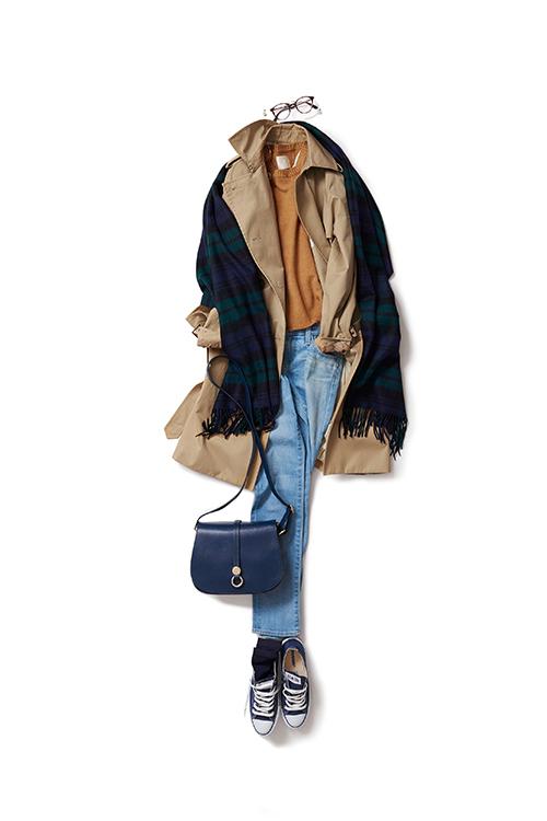 ヴィンテージなムードで着たいトレンチスタイル