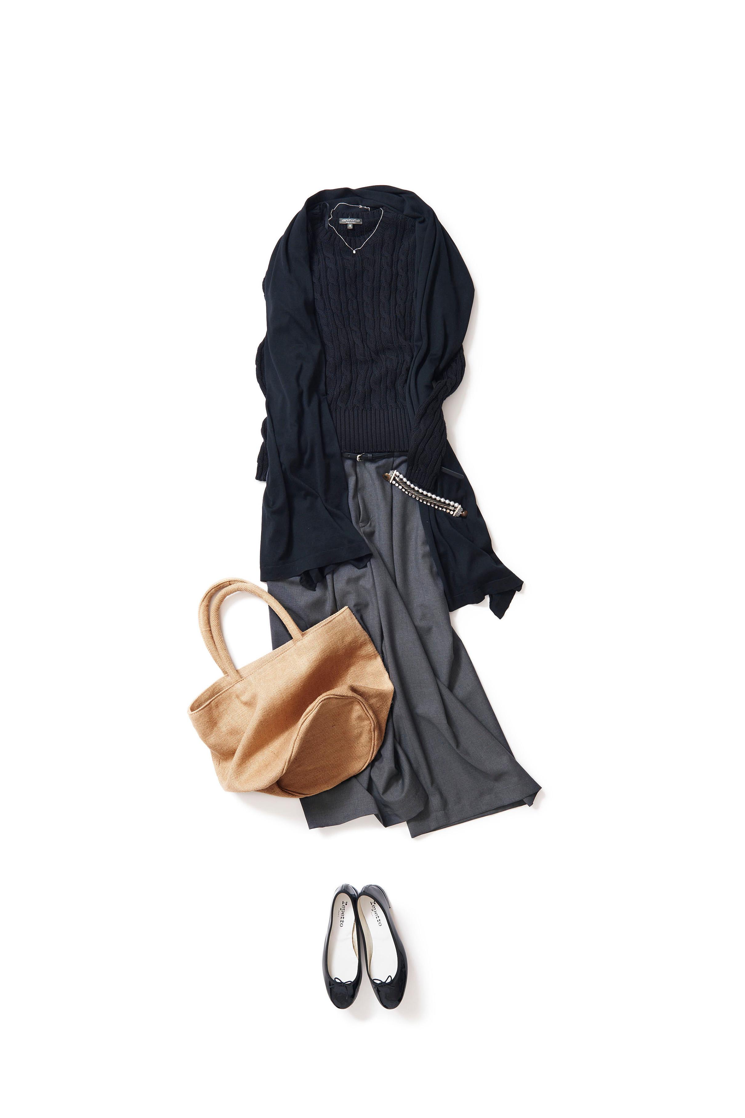 シックトーンをキュートに着るガウチョスタイル