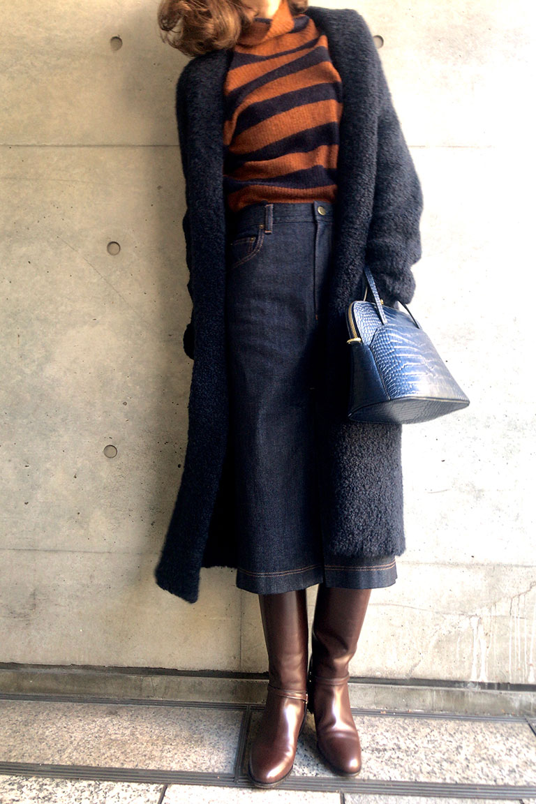 brown x navy@レトロムード10