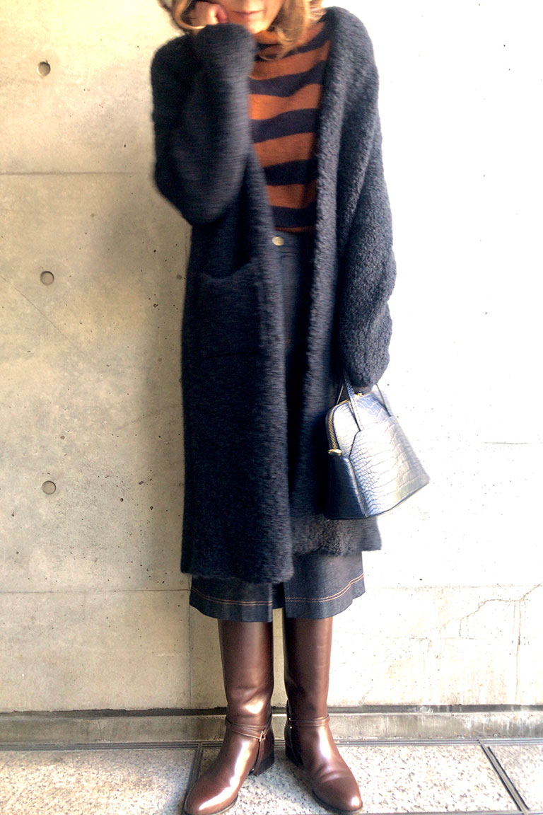 brown x navy@レトロムード12