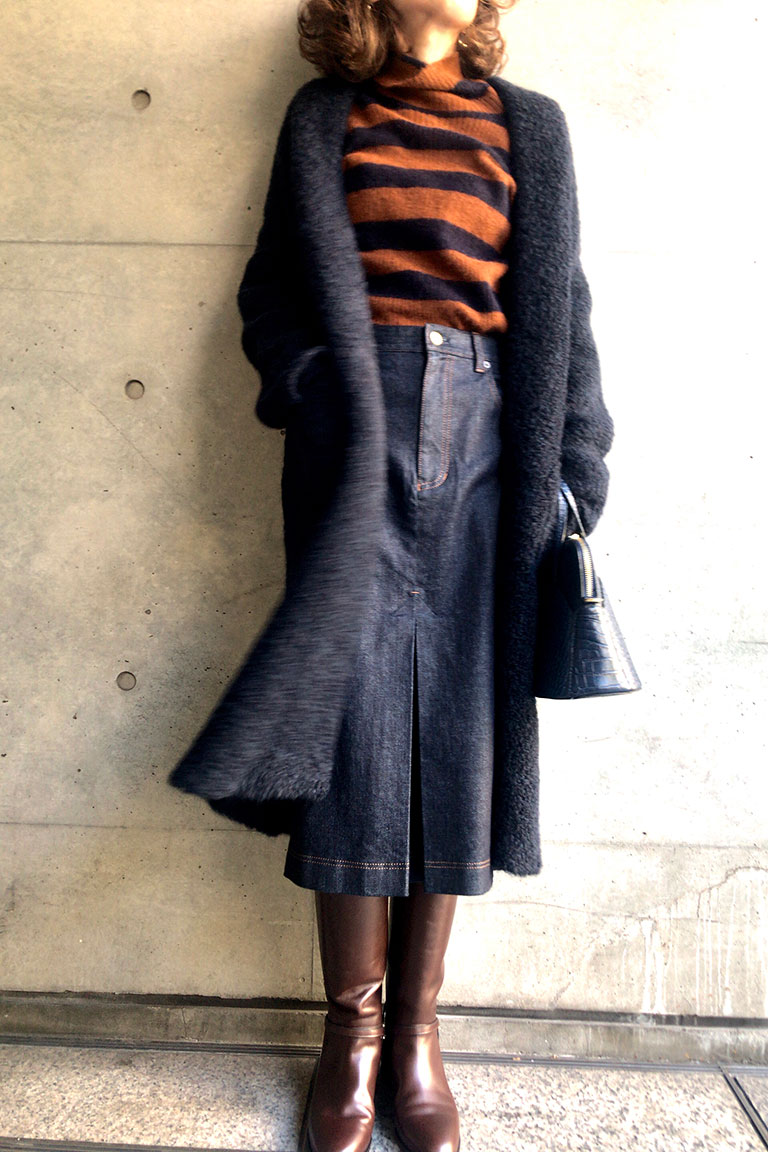 brown x navy@レトロムード2