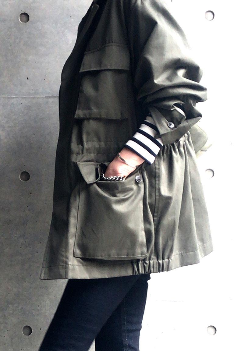 女らしく着るミリタリー10