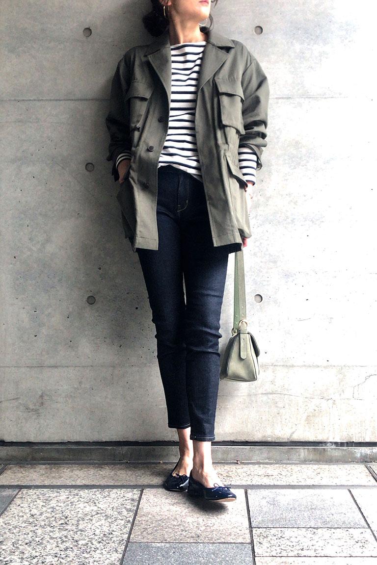 女らしく着るミリタリー11