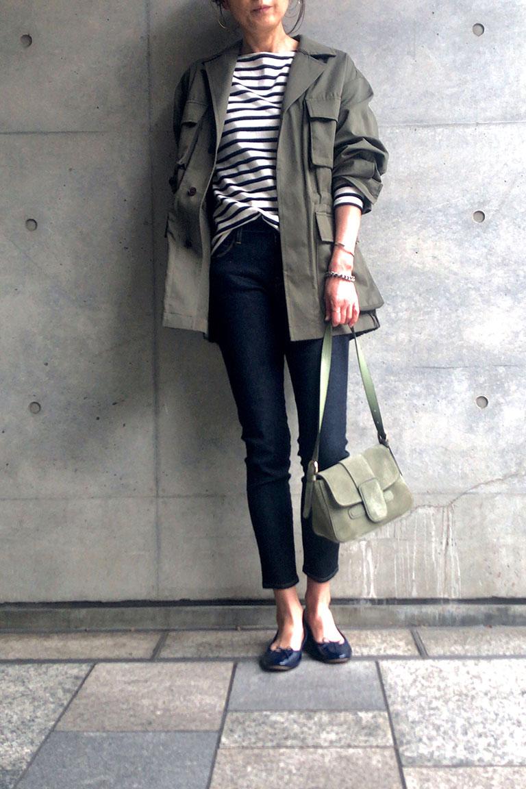 女らしく着るミリタリー8