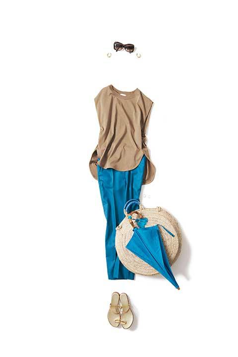 砂浜と青空の色、 キャメル×ターコイズ