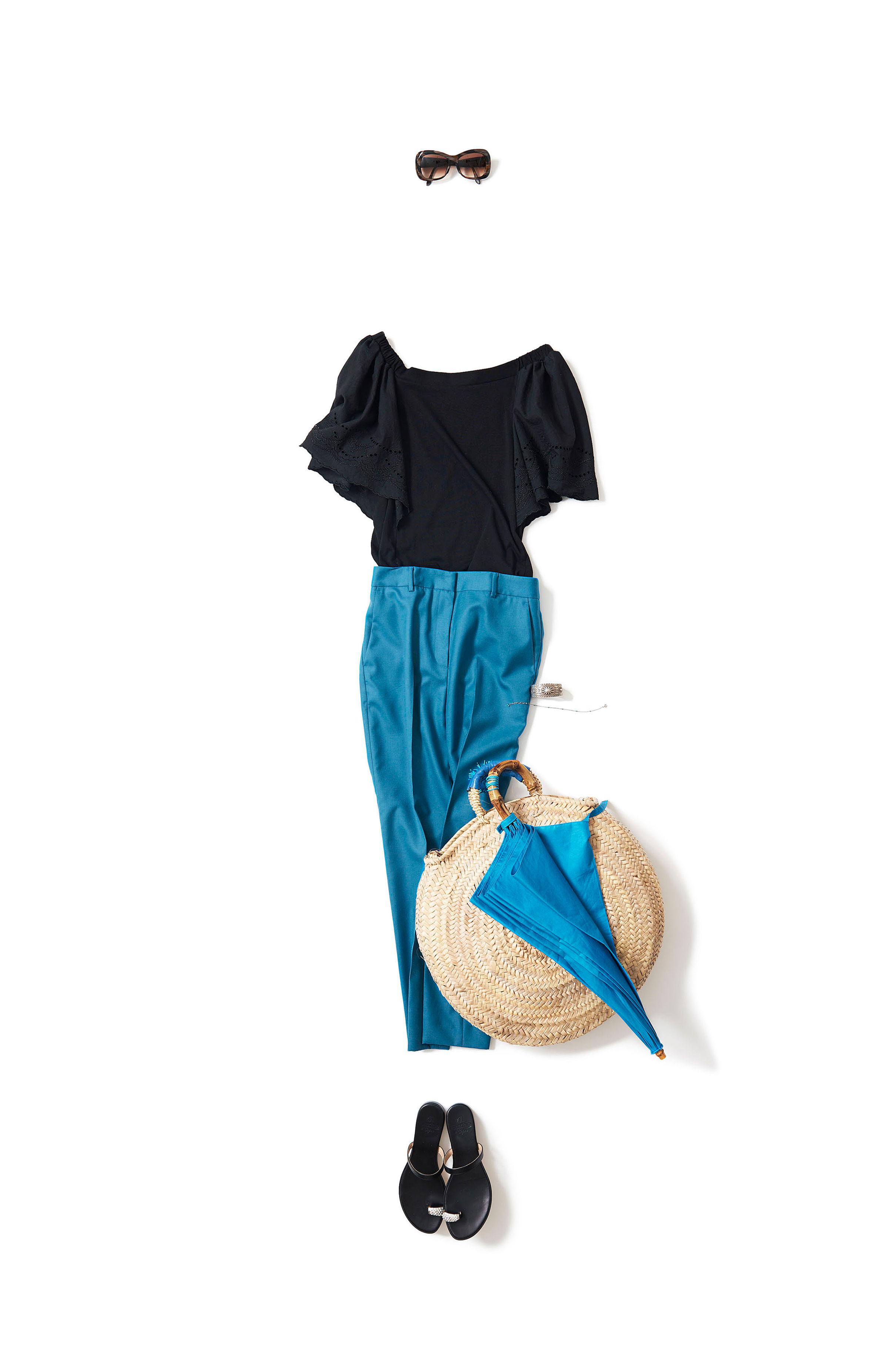 turquoise x black