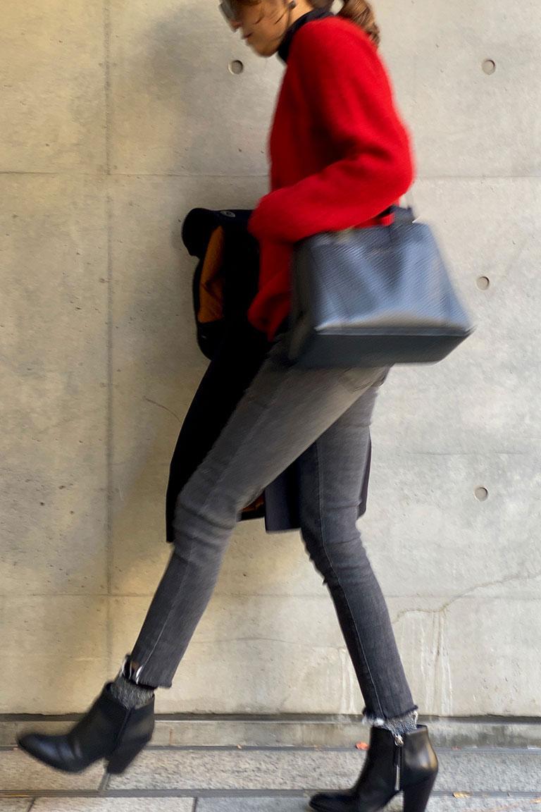 黒×赤のフレンチトラッド