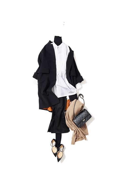 冬に着るシャツコーデ