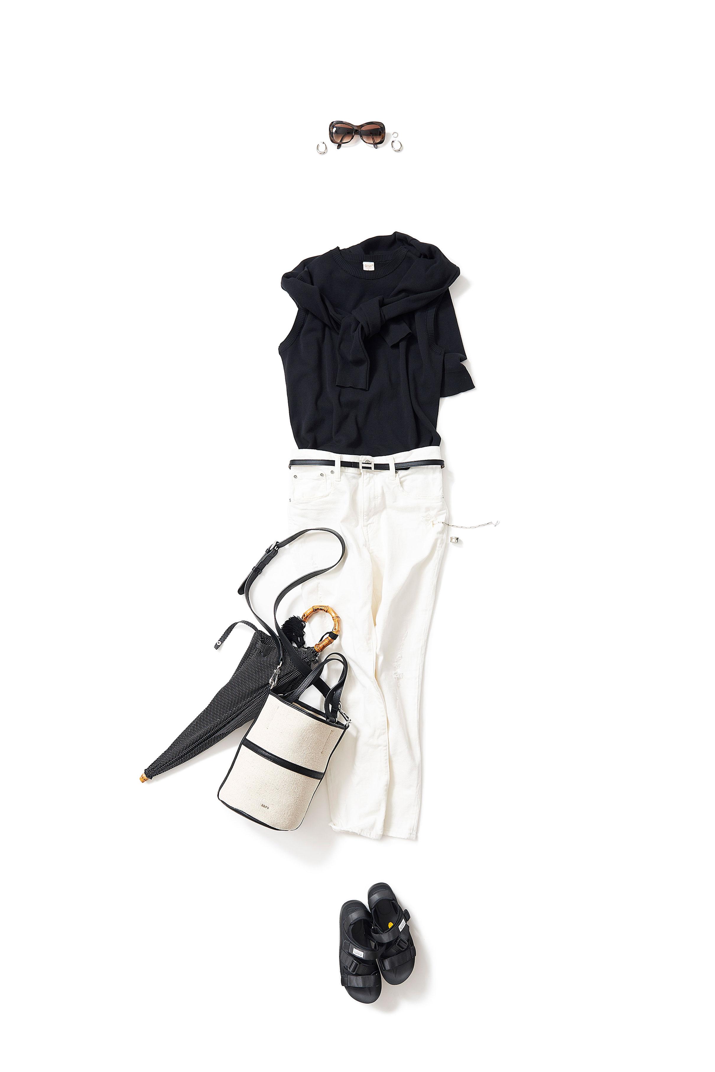 コンサバなブラック&ホワイト