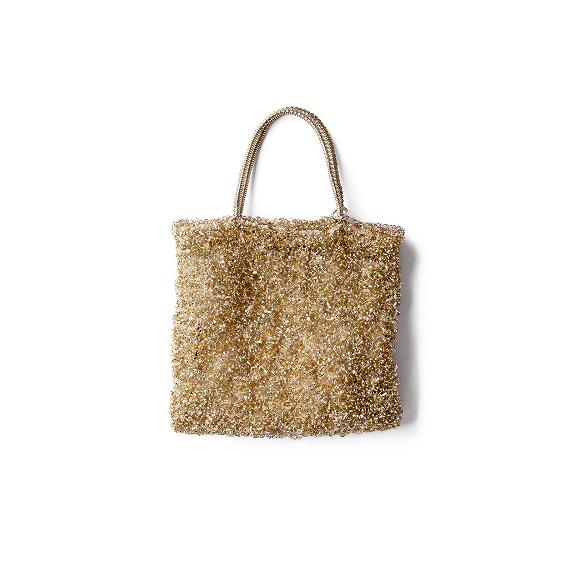 アンテプリマの大定番、ゴールドワイヤーバッグ