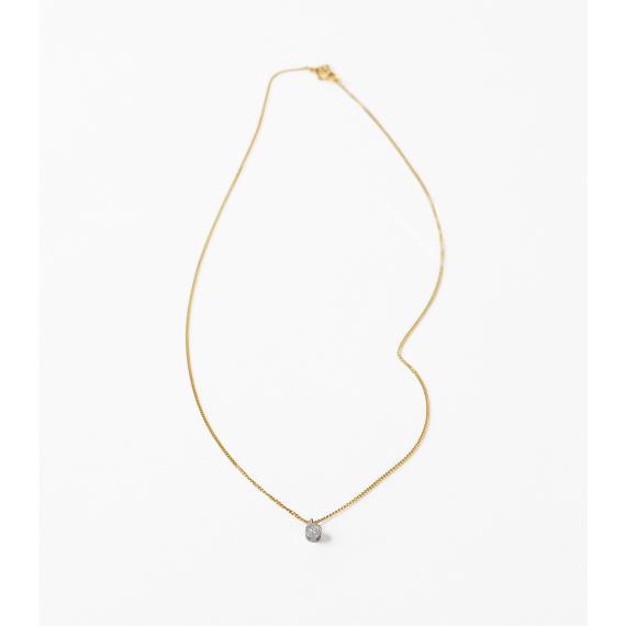 優しい輝きのダブルミルのネックレス