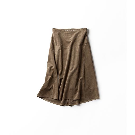 フェイクスウェードのフィッシュテールスカート