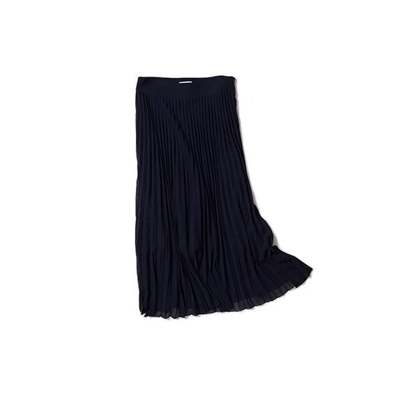 ヴィンテージムードのプリーツスカート