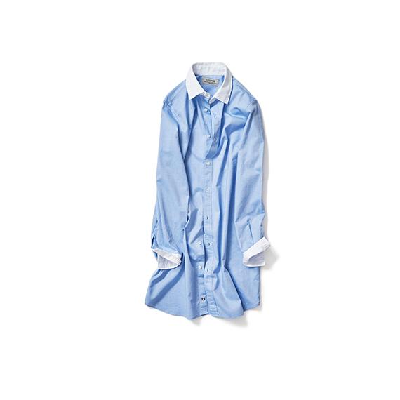 サラッとした着心地のロングシャツ