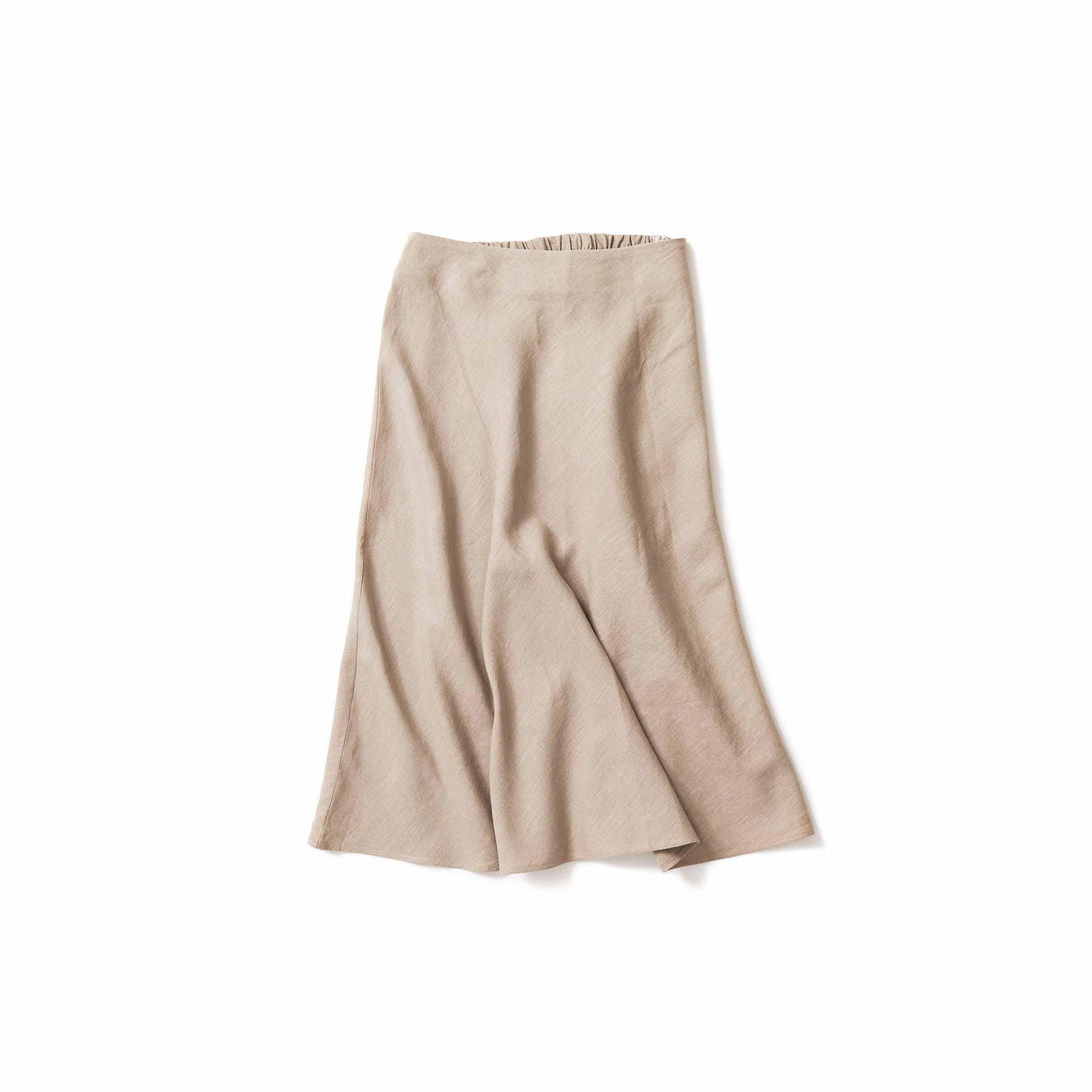 リネンのフレアースカート