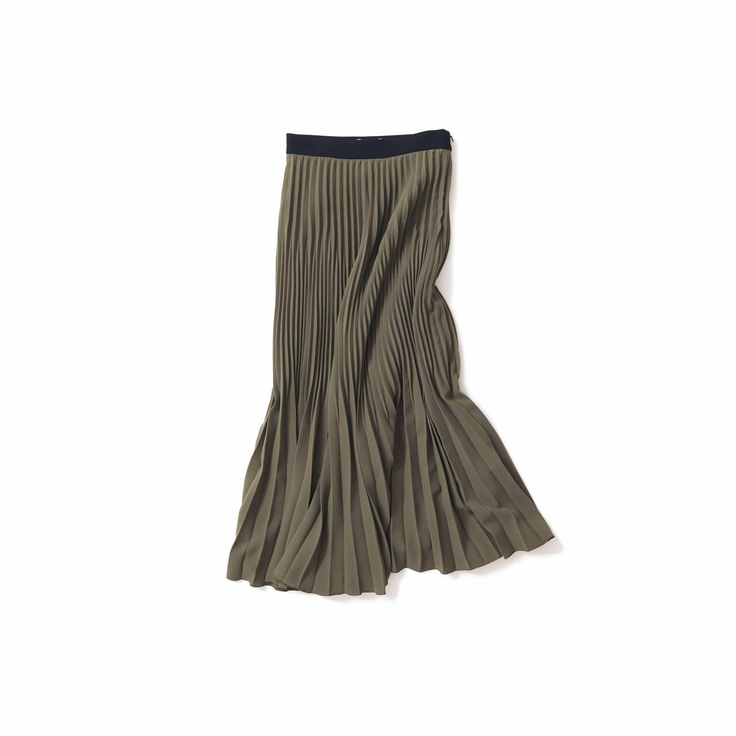 秋らしい落ち着きを感じるスカート