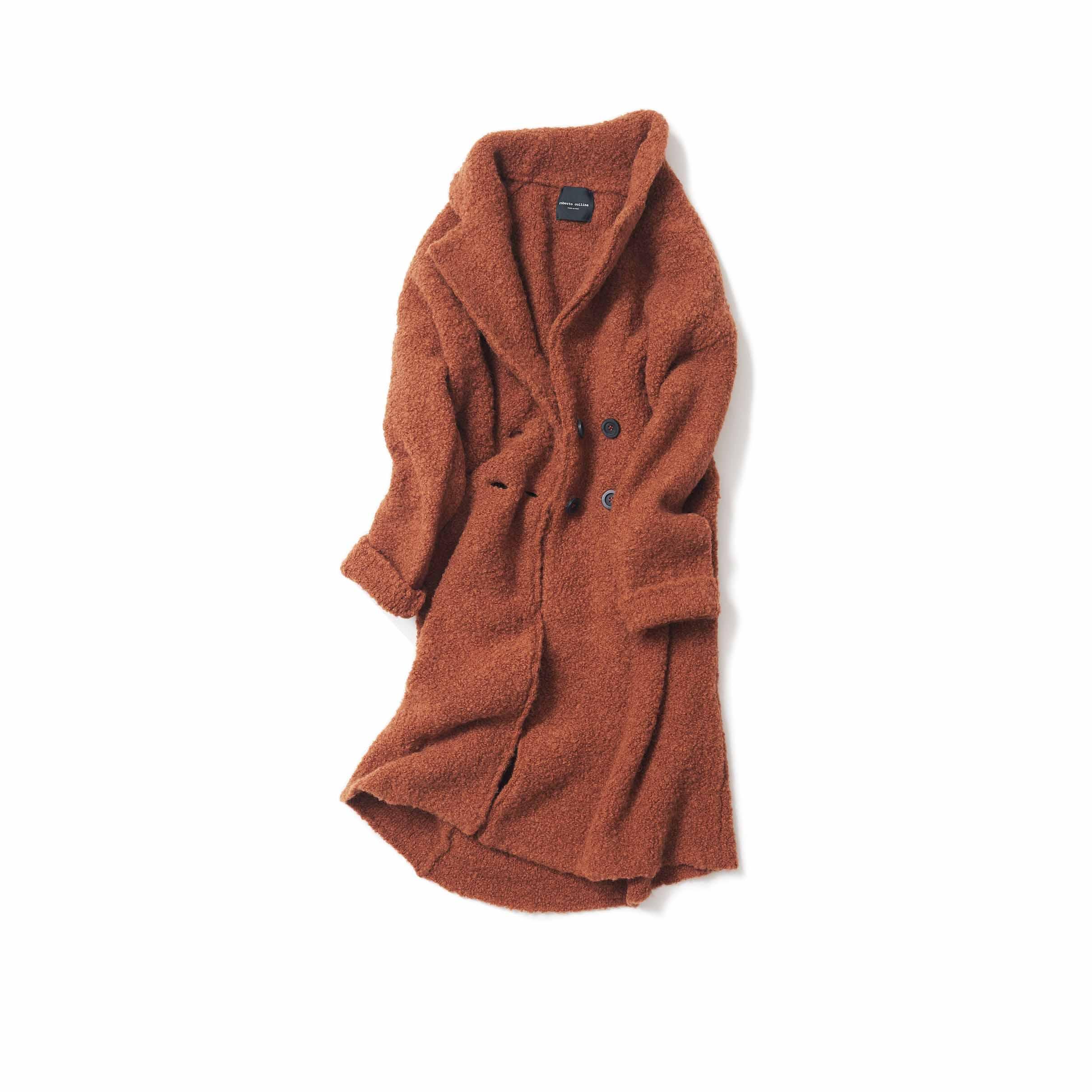 コニャック色のコート