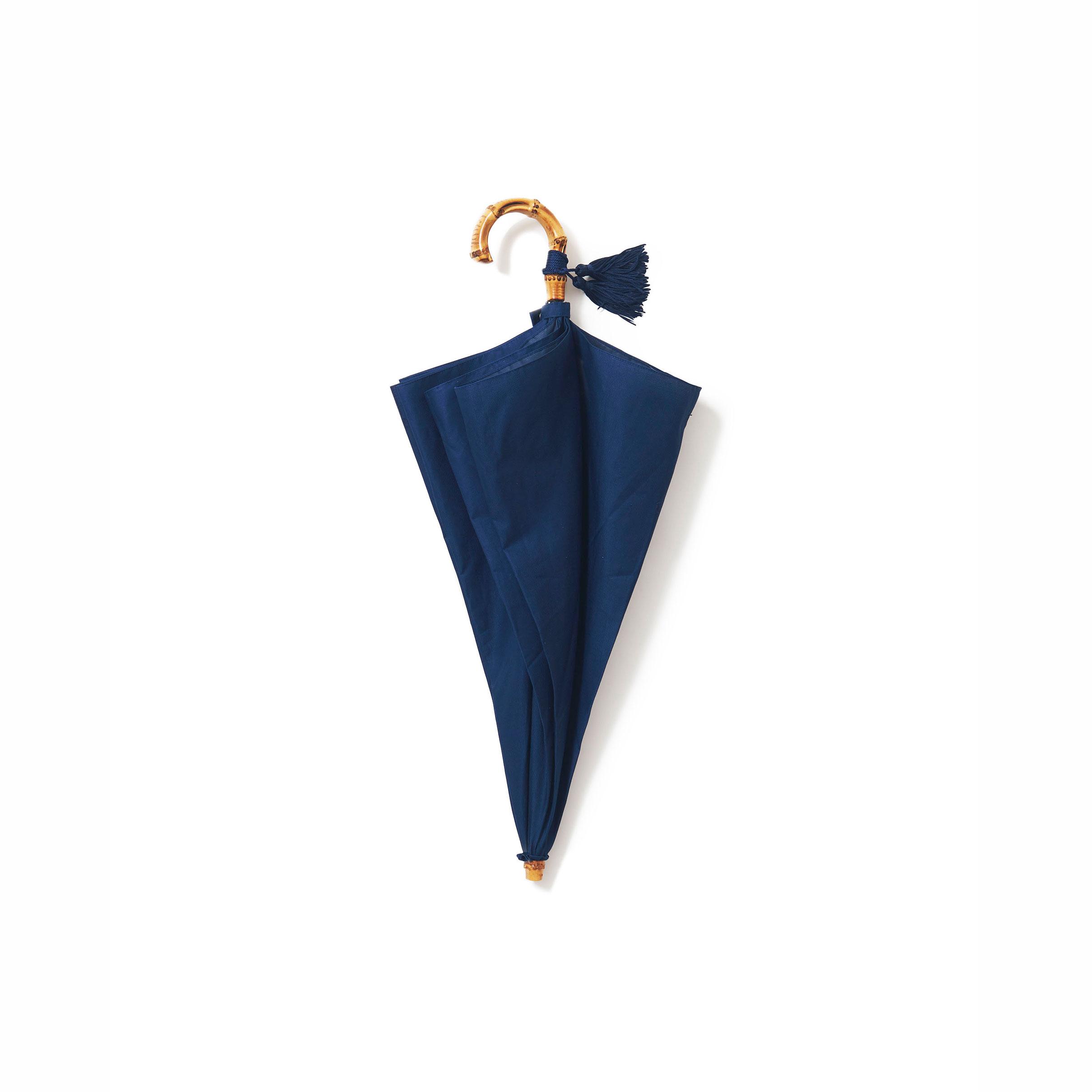 ネイビーの折りたたみ傘