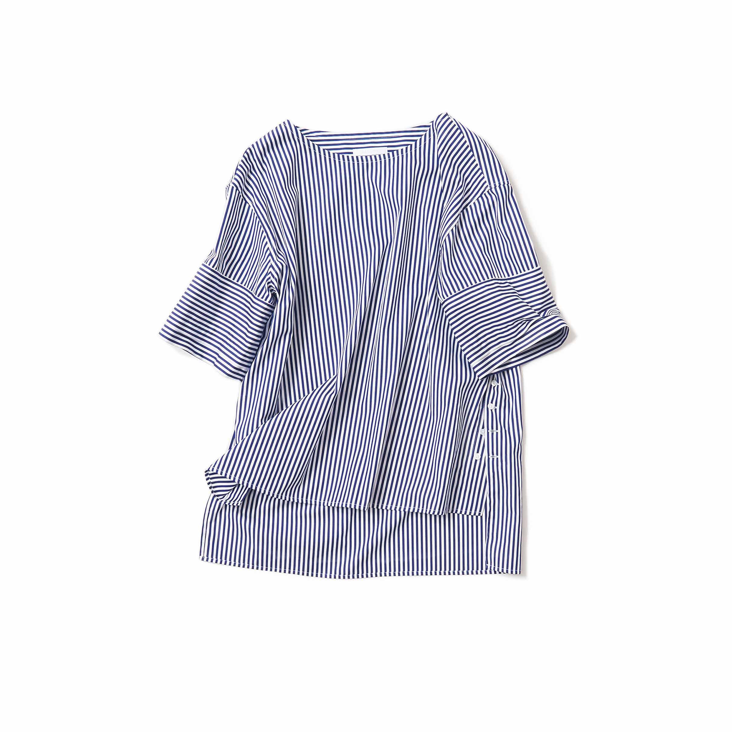 ノーカラーシャツ