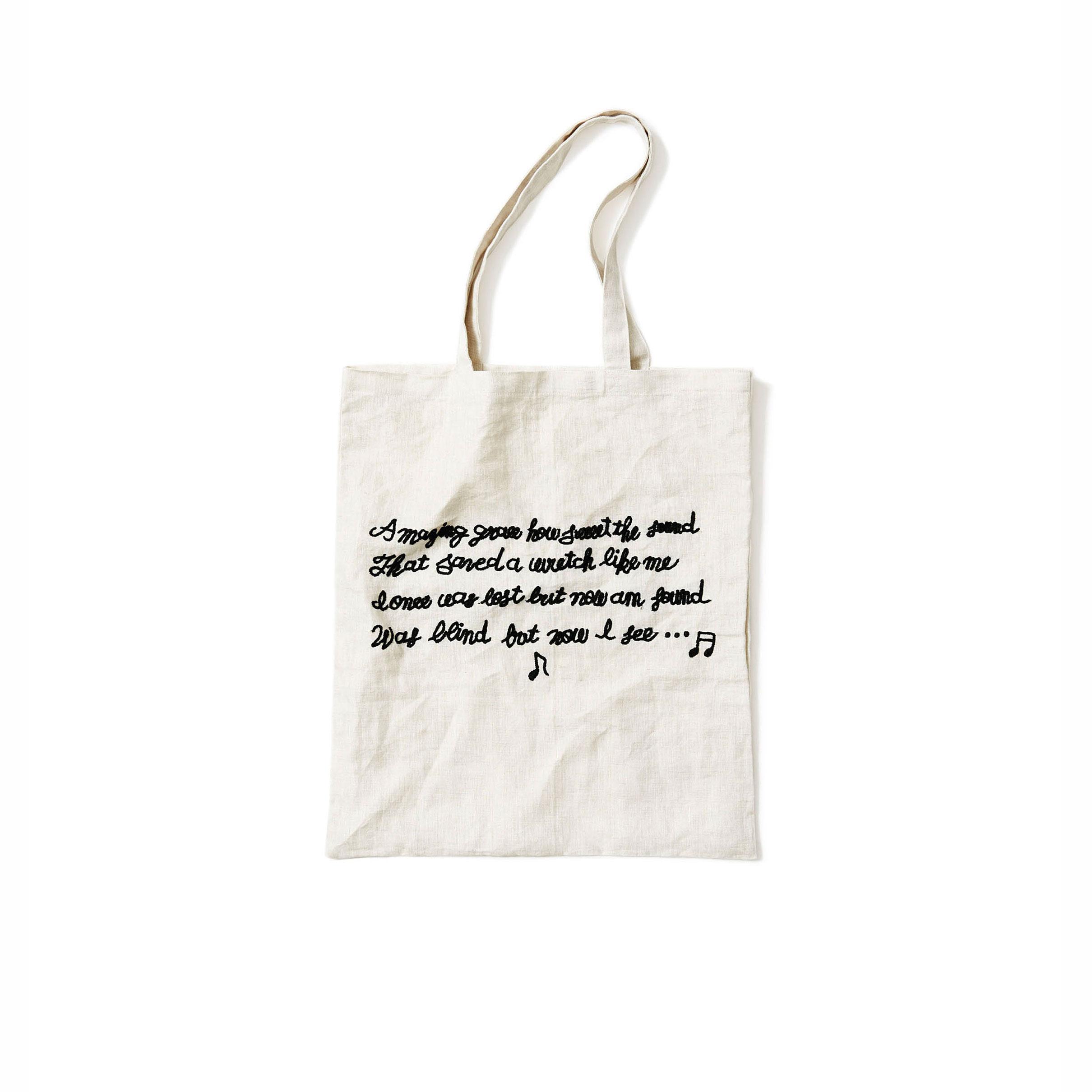 リネンの布バッグ