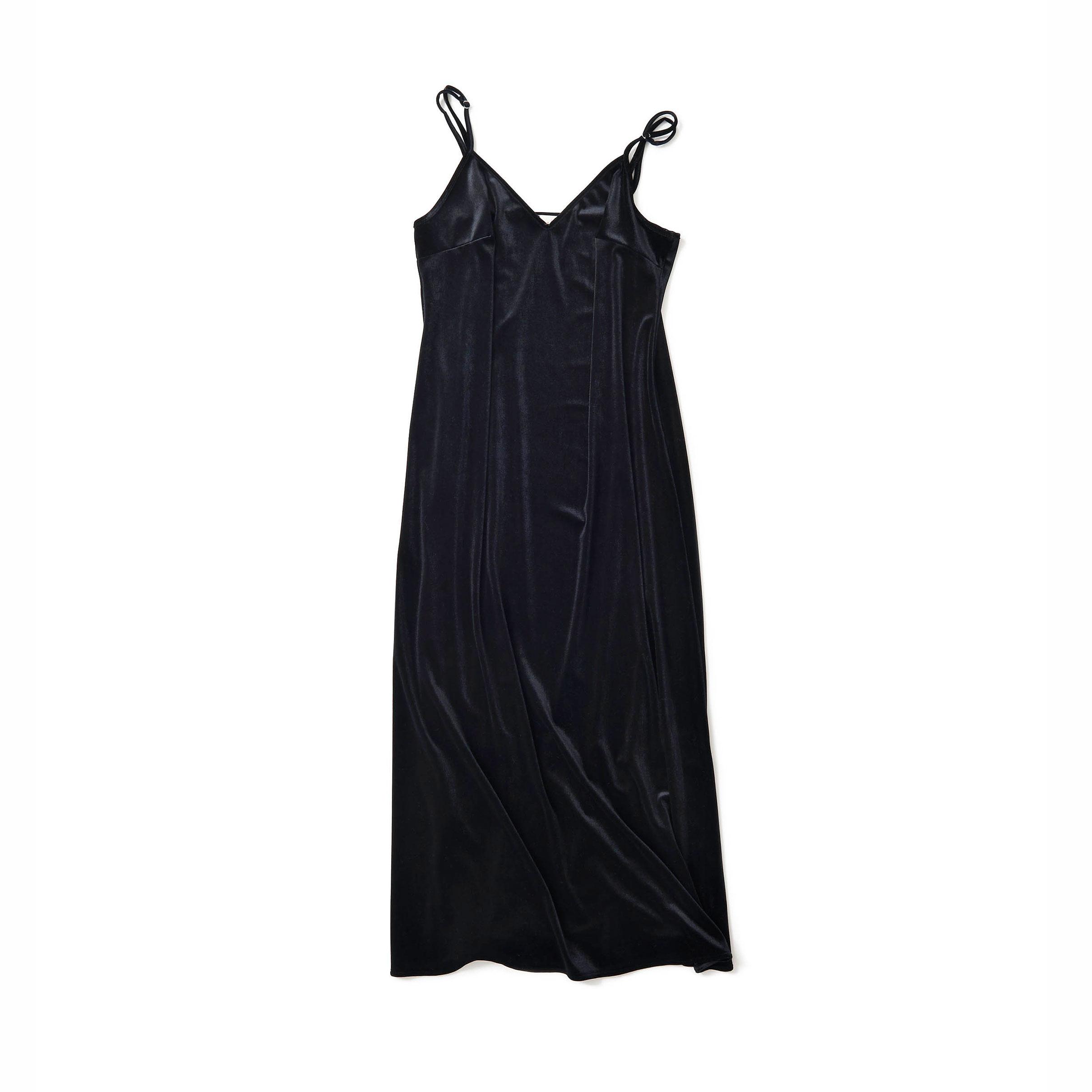 ベロアのキャミドレス