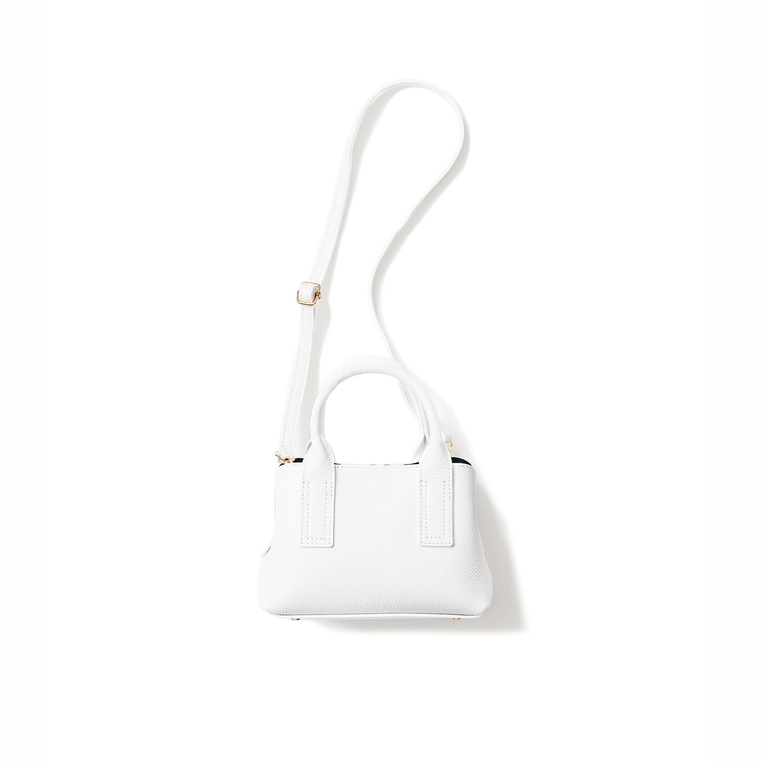 Happy white mini tote