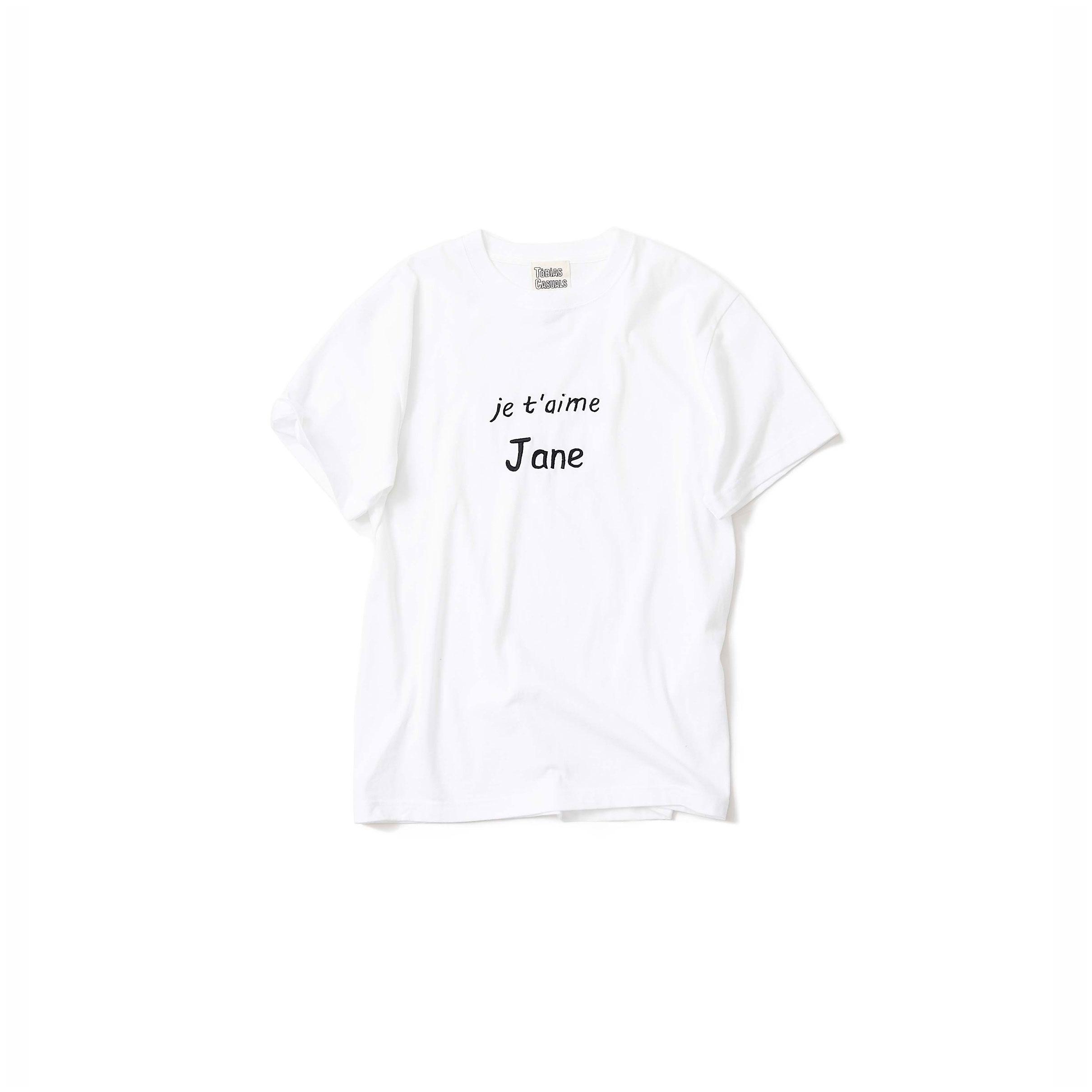 Je t'aime Jane Tシャツ @2021