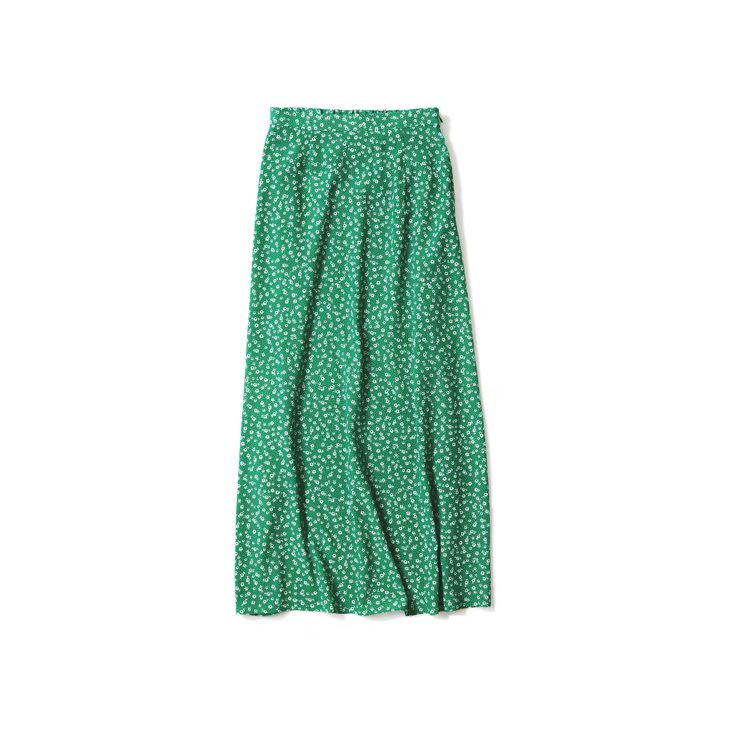 retro-inspired flower print skirt